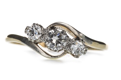 Lot 340-A DIAMOND THREE STONE RING