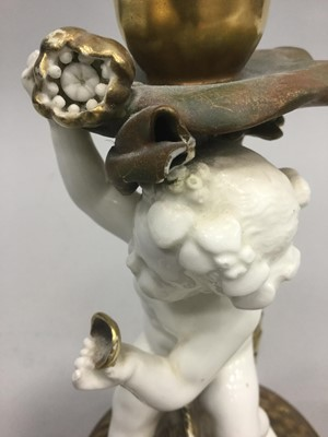 Lot 1011 - A PAIR OF 19TH CENTURY MOORE & CO. WHITE GLAZED COMPORTS