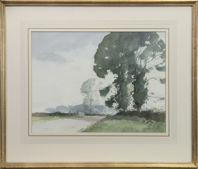 Lot 424-NORFOLK LANE, A WATERCOLOUR BY STANLEY ORCHARD