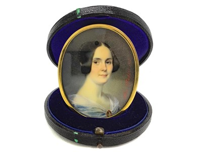 Lot 1337 - PORTRAIT OF EMILIE FRASER, BY ALESSANDRO CITTADINI