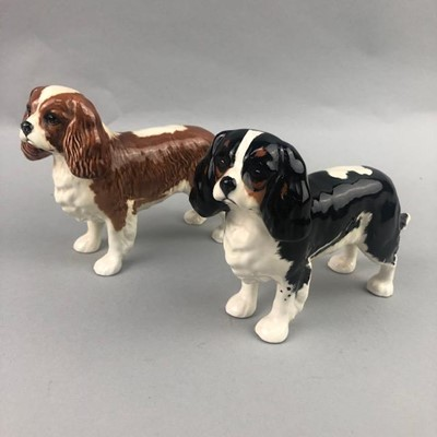 Lot 7-A LOT OF TWO BESWICK SPANIELS