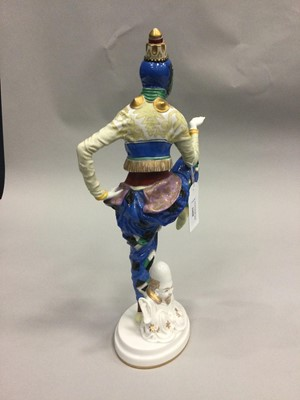 Lot 1008 - A PORCELAIN FIGURE OF A KOREAN DANCER, BY CONSTANTINE HOLZER-DEFANTI FOR ROSENTHAL