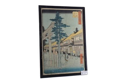 Lot 821 - A JAPANESE WOODBLOCK PRINT AFTER ANDO HIROSHIGE