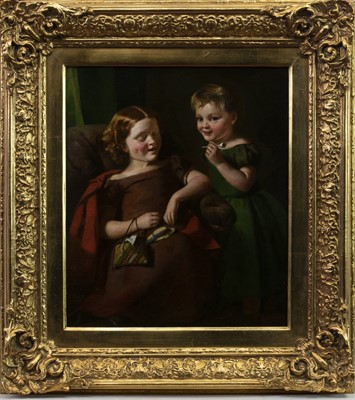 Lot 101 - TWO BAIRNS PLAYING, AN OIL BY THOMAS FAED
