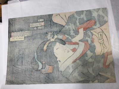 Lot 826 - A JAPANESE WOODBLOCK PRINT