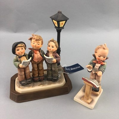 Lot 17-A HUMMEL FIGURE OF BAND LEADER AND OF TUNEFUL TRIO