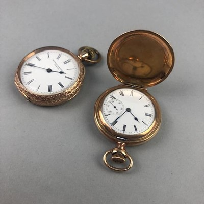 Lot 3-A LOT OF TWO ROLLED GOLD WALTHAM POCKET WATCHES