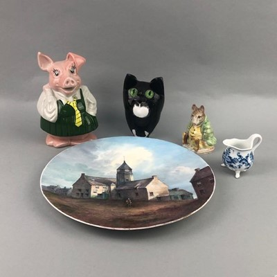 Lot 5-A MEISSEN CREAM JUG ALONG WITH OTHER CERAMICS