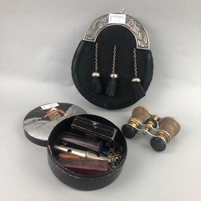 Lot 13-AN AMBER MEERSCHAUM CIGARETTE HOLDER AND OTHER ITEMS