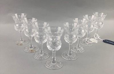 Lot 15-A SET OF EIGHT WEBB CORBETT LIQUEUR GLASSES
