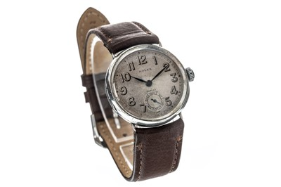 Lot 733-A GENTLEMAN'S 1940'S ROLEX SILVER CASED MANUAL WIND WRIST WATCH