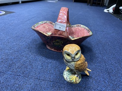 Lot 25-A BESWICK FIGURE OF AN OWL, OTHER FIGURES AND PLATES