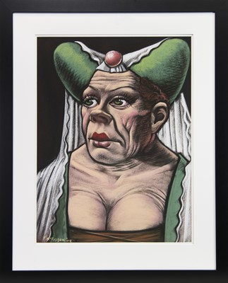 Lot 91 - THE UGLY DUCHESS, A PASTEL BY FRANK MCFADDEN