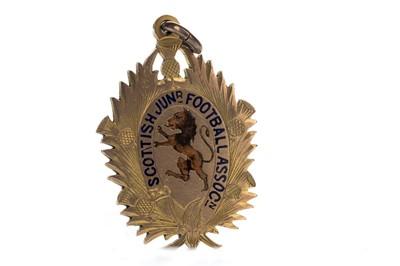 Lot 1721 - JIMMY MCMENEMY - HIS SCOTTISH JUNIOR FOOTBALL ASSOCIATION GOLD MEDAL 1902