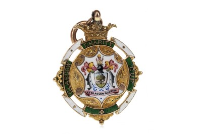 Lot 1723 - JIMMY MCMENEMY - HIS GLASGOW CHARITY CUP WINNERS GOLD MEDAL 1905