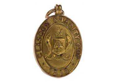 Lot 1724 - JIMMY MCMENEMY - HIS GLASGOW CHARITY CUP WINNERS GOLD MEDAL 1918