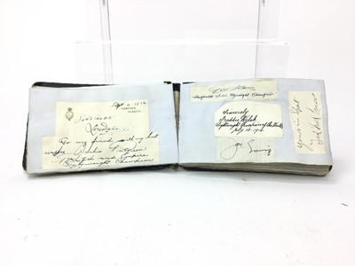 Lot 1736 - AN IMPRESSIVE EARLY 20TH CENTURY AUTOGRAPH ALBUM