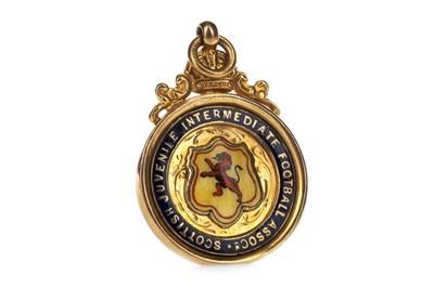 Lot 1730 - HARRY MCMENEMY - HIS SCOTTISH JUVENILE INTERMEDIATE FOOTBALL ASSOCIATION GOLD MEDAL 1929