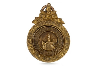 Lot 1731 - HARRY MCMENEMY - GLASGOW & DISTRICT INTERMEDIATE F.A. CHALLENGE CUP WINNERS GOLD MEDAL 1931
