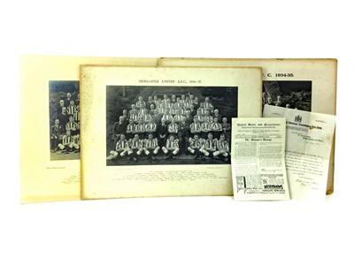 Lot 1732 - AN ARCHIVE OF PHOTOGRAPHS AND A LETTER RELATING TO NEWCASTLE UNITED F.C.