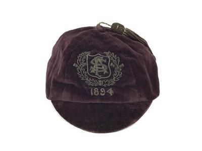 Lot 1705 - A LATE 19TH CENTURY SCOTTISH FOOTBALL ASSOCIATION FOOTBALL CAP