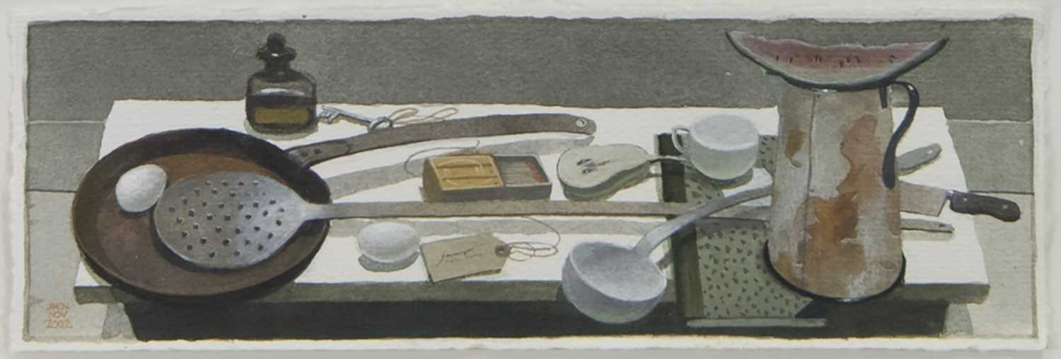 Lot 32 - LONG HANDLED SPOON, A WATERCOLOUR AND GOUACHE BY JAMES MCNAUGHT