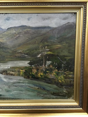 Lot 84 - RIVER LANDSCAPE, AN OIL BY JAMES KAY
