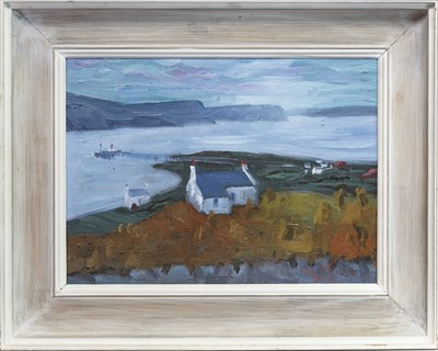 Lot 76 - CROFTHOUSE, AN OIL BY WILIAM DRUMMOND BONE