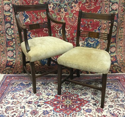 Lot 1354 - A SET OF EIGHT REGENCY MAHOGANY DINING CHAIRS