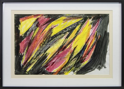 Lot 224 - ABSTRACT STRUCTURE, A MIXED MEDIA BY WILLIAM GEAR