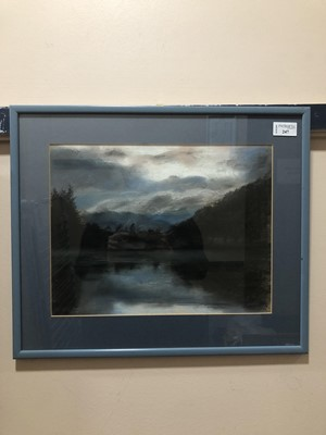 Lot 247 - OVER THE WATER, A MIXED MEDIA BY PAT ROSS