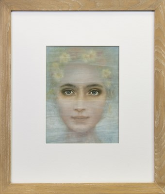 Lot 541 - SEEING THROUGH THE VEIL, AN OIL BY ROS GREEN
