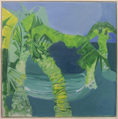 Lot 96 - PALM TREES II, AN OIL BY PAUL GELL