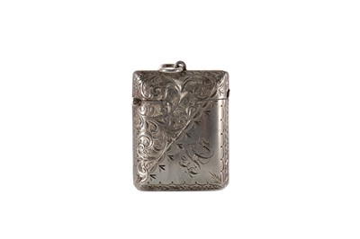 Lot 431 - AN EDWARD VII SILVER VESTA CASE