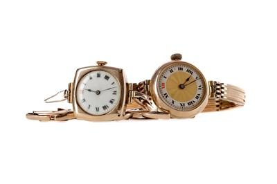 Lot 905 - TWO NINE CARAT GOLD LADY'S MANUAL WIND WRIST WATCHES