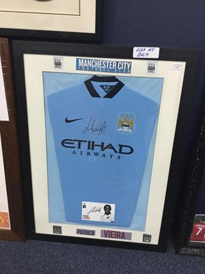 Lot 1743 - A SIGNED MANCHESTER CITY FOOTBALL CLUB JERSEY