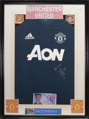 Lot 1744 - A SIGNED MANCHESTER UNITED FOOTBALL CLUB JERSEY