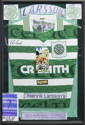 Lot 1745 - A SIGNED CELTIC FOOTBALL CLUB JERSEY