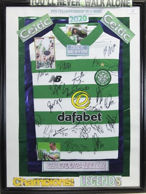 Lot 1746 - A SIGNED CELTIC FOOTBALL CLUB JERSEY
