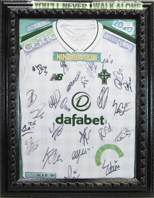 Lot 1747 - A SIGNED CELTIC FOOTBALL CLUB JERSEY