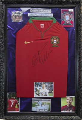 Lot 1749 - A SIGNED PORTUGAL FOOTBALL JERSEY