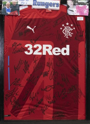 Lot 1750 - A SIGNED RANGERS FOOTBALL CLUB JERSEY