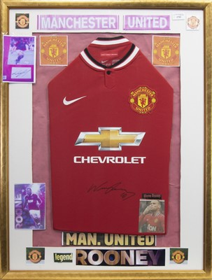 Lot 1753 - A SIGNED MANCHESTER UNITED FOOTBALL CLUB JERSEY