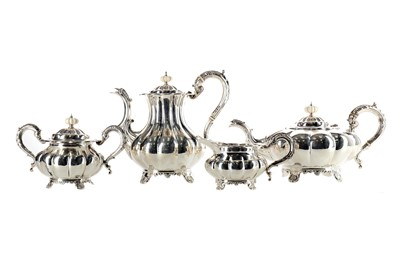 Lot 423 - AN ELIZABETH II SILVER FOUR PIECE TEA SERVICE