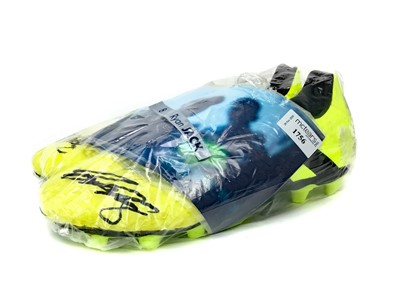 Lot 1756 - A PAIR OF FOOTBALL BOOTS SIGNED BY RYAN JACK OF RANGERS F.C.