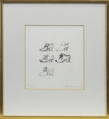 Lot 195 - FIGARO, A PENCIL SKETCH BY JOHN BYRNE