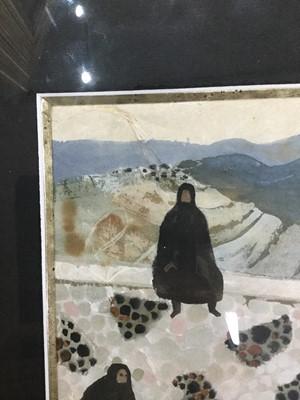 Lot 124 - GOZO SCENE, A GOUACHE BY MARY FEDDEN