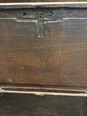 Lot 823 - A MOORISH WOODEN OBLONG CHEST