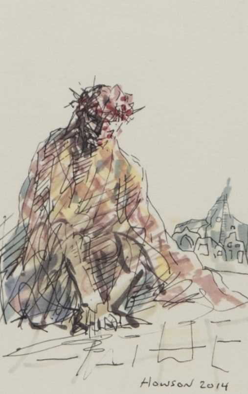 Lot 111 - SEATED CHRIST, BY PETER HOWSON
