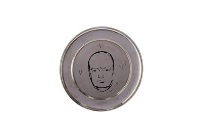 Lot 442 - A WINSTON CHURCHILL CENTENARY SILVER PLATE
